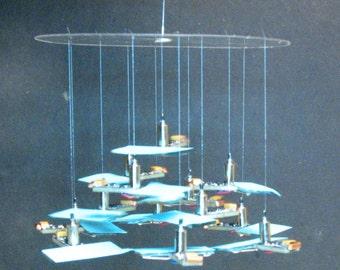 Kinetic Sculpture, Solar Chandelier, Solabile 'Event Horizon'
