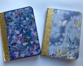 ASIAN DREAMS Butterfly Mini Composition notebook set of 2 Chiyogami Paperdori Midori INSERT planner Fauxdori journal Washi