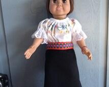 Ecuadorian dress for 18 inch dolls -- South American dress for American Girl doll