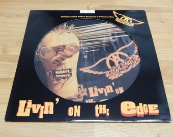 Aerosmith livin on the edge 12'' Picture Disc  vinyl record lp 1993 Rock N Roll made in germany #3109 Limited Edition