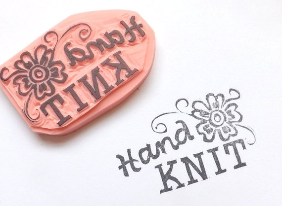 Hand knit rubber stamp knitting labels knitter39s tags by for Hand knit labels