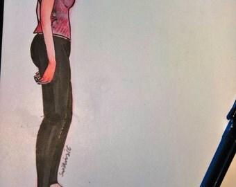 Girl - Original Illustration