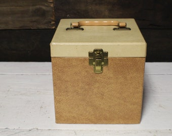 Record Case from the 1960's, 45 RPM Record Case with Dividers