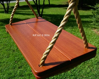 Wood Tree Swing- Brazilian Redwood