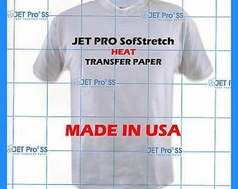 "Jet Pro SofStretch Inkjet Heat Transfer Paper 8.5"" x 11""  (Pack of 20 Sheets) **FREE SHIPPING**"