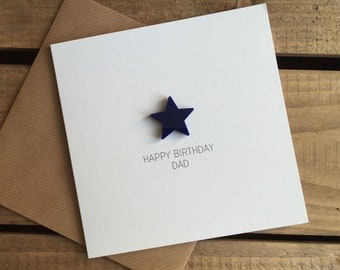 Happy Birthday Dad with detachable magnet keepsake