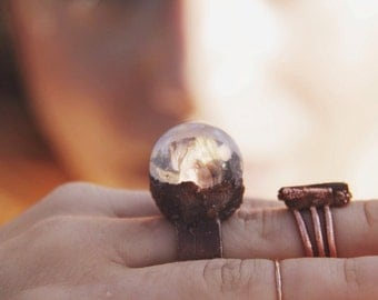 Crystal Ball Ring - Made to Order
