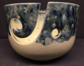 Ceramic Yarn Bowl, Knitting Bowl, Crochet Bowl