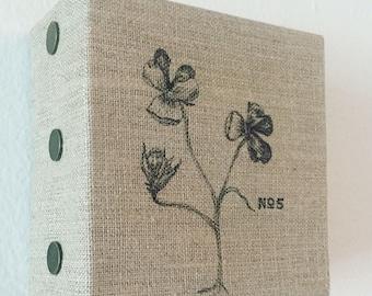 Pen & Ink on Linen Canvas: No. 5 Violets