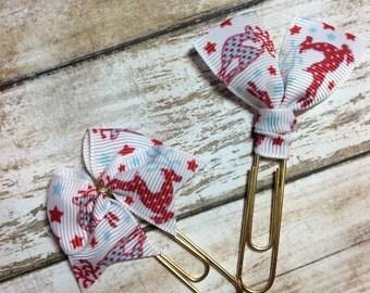 Elegant Reindeer - Set of 2 - Planner Clips / Bookmarks