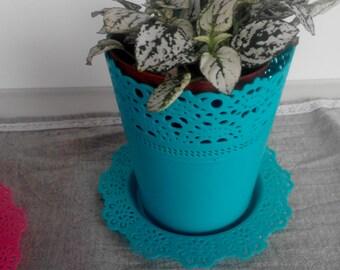 Pot, plastic pot, flower pot, flower plastic pot, blue pot,flower in pot,garden pot,garden decoration,
