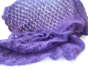 Mohair lap or baby blanket or throw