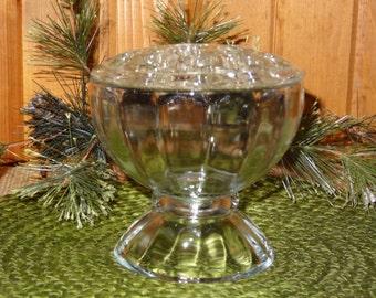 Vintage Libbey Bud Vase with Frog / Marble Display Vase with Frog