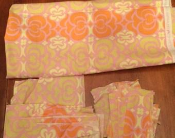 Scrap Fabric Amy Butler Midwest Modern Garden Maze Pink