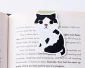 American Shorthair Tuxedo Cat Magnetic Bookmark (Jumbo)