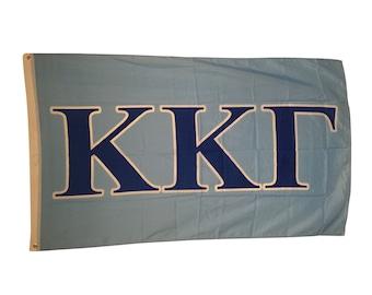 Kappa Kappa Gamma KKG Letter Sorority Flag kkg