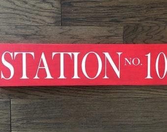 Fire Station Sign... Little Boy's Room... Fireman Decor... Fire Family Decor... Boy Nursery Decor