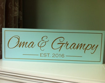 Oma Gifts, New Grandma Gift, Personalized, Mimi Nana, Grandpa, Wood Sign, Christmas Gift, Mothers Day Gift, Grandparents Gift, Custom Plaque