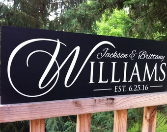 Custom Wedding Gift, Wedding Signs, Name Sign, Anniversary Gift, Wedding Gifts for Couple, Wedding Shower Gift, Engagement Gifts, Wooden
