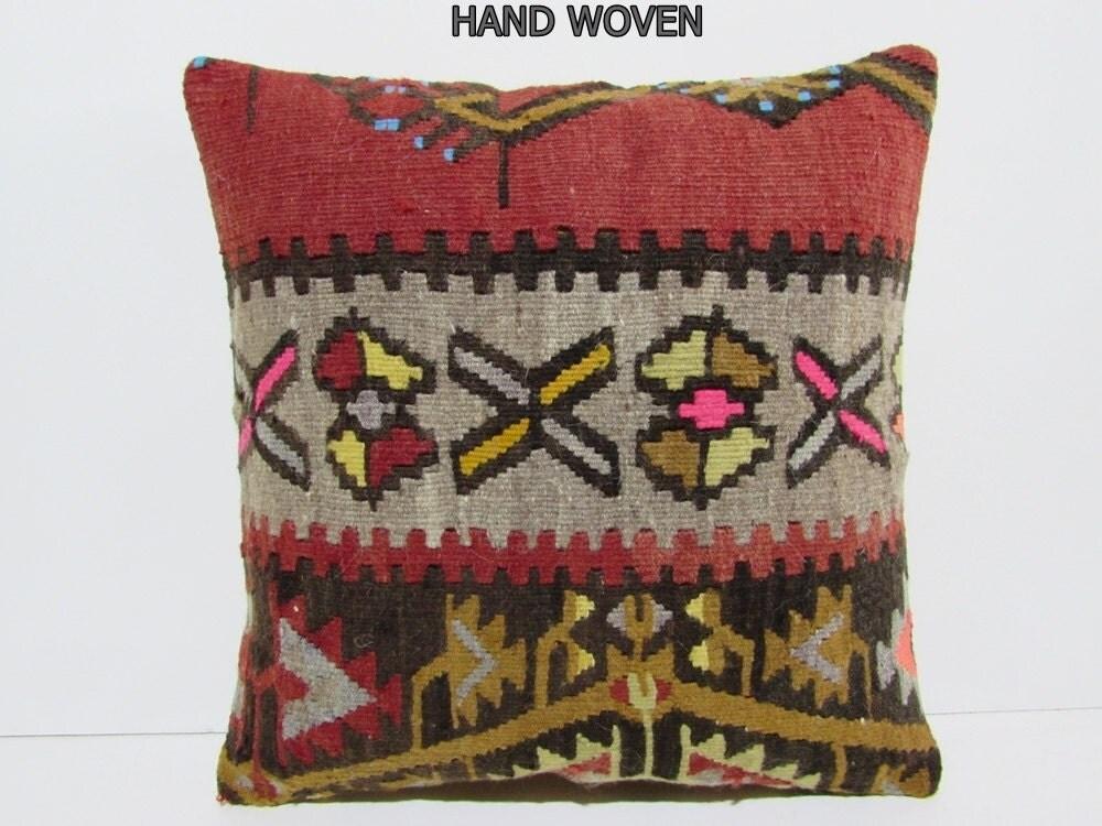 Oriental Decorative Pillows : couch kilim pillow 18x18 oriental decorative pillow arrow