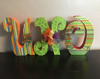 Custom wood letters. Wood letters. First birthday centerpiece. ONE wood decor. First birthday photo prop. Birthday sign Birthday centerpiece