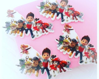 40mm Paw Patrol Flatbacks - 4 pcs set