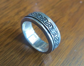 FREE Shipping Vintage Silver Rind/Band Size 10 Mexico