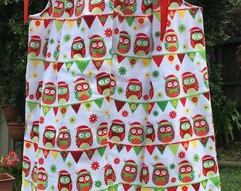 Girl's Christmas Handmade Dress sizes 4, 6 & 7