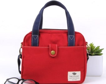 mini bag,red&navy blue(strap),shoulder bag,Mothers Day Gift for her ,gift,Bags and Purses,crossbody bags