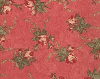 Deep rose floral bouquet fabric from the Paris Flea Market line for Moda.