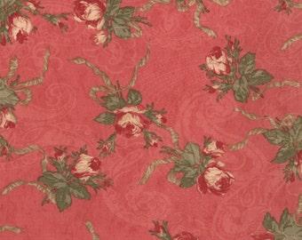 Deep rose floral bouquet fabric from the Paris Flea Market line for Moda.
