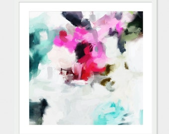 Faith, 6x6-36x36in, Abstract Fine Art Print, abstract print, blue abstract, pink abstract