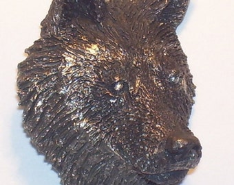 Wolf Face  Pendent