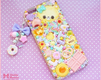 Kawaii sweet decoden iPhone 6 deco case -Lolita Sweets- and a cute charm by Dolly House