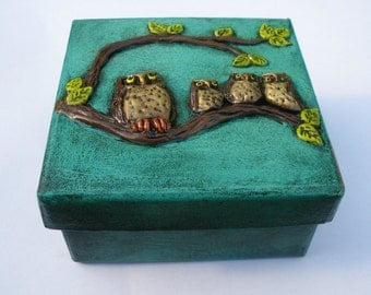 Owls Box Handmade Decorations