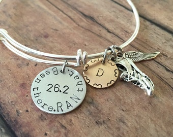 Running Bracelet Customizable Running Jewelry 26.2 Marathon Bracelet and Gifts for Runners Personalized Jewelry for Runners