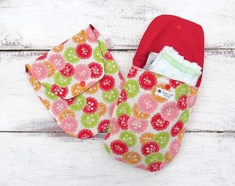 Diaper Clutch Flowers Baby Wipes Case Small Diaper Bag Diaper Organiser