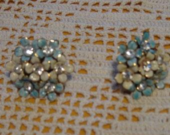 1950's Hydrangea Earrings