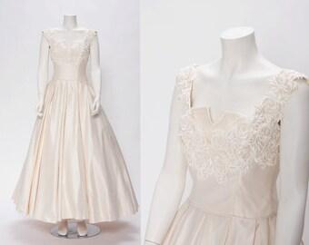 dior inspired wedding dress vintage 1950s inspired • Revival Vintage Boutique