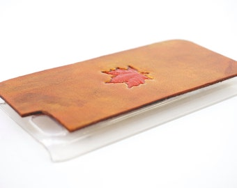 Leather iPhone SE Case / iPhone 5s Case - Fall Maple Leaf