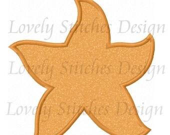 Starfish Applique Machine Embroidery Design NO:0531