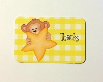 Mini note cards, thank you card set, mini thank you cards, set of 12 mini cards