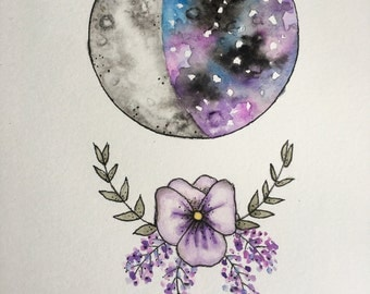 Violet with Moon