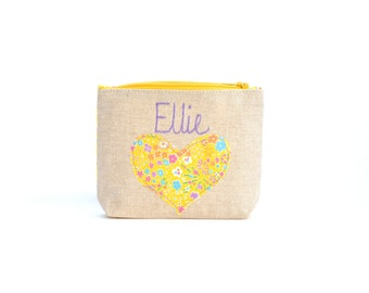Personalised Purse // Coin Purse // Children's Gift // Choose your Liberty Fabric // Bridesmaid Gift
