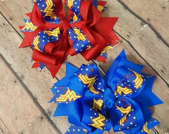Wonder Woman Hairbow; Ready To Ship