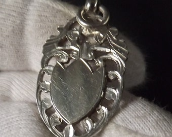 Antique  Sterling Silver Albert Watch Chain FOB by William Hair Haseler 1919