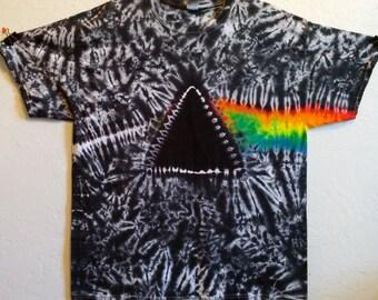 Tie Dye Shirt Dark Side of the Moon T-Shirt Tie Dye Tshirt Hippie Shirt Tie Dye T Shirt Tie Dye Clothing Rainbow Shirt Pink Floyd