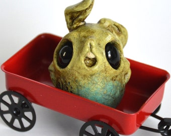 TOXIC KIWI Gumdrop sculpture - Hand painted limited edition