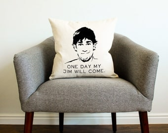 The Office TV SHOW Jim Halpert Quote Pillow - Home Decor, The Office Quotes, Screenprint, Pillow Cover, Cushion Cover, Michael Scott Quotes