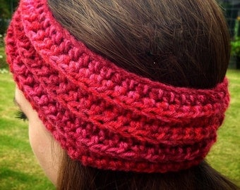 Crochet Headband - Ear Warmer - Turban - Head Warmer - Crochet Headwrap